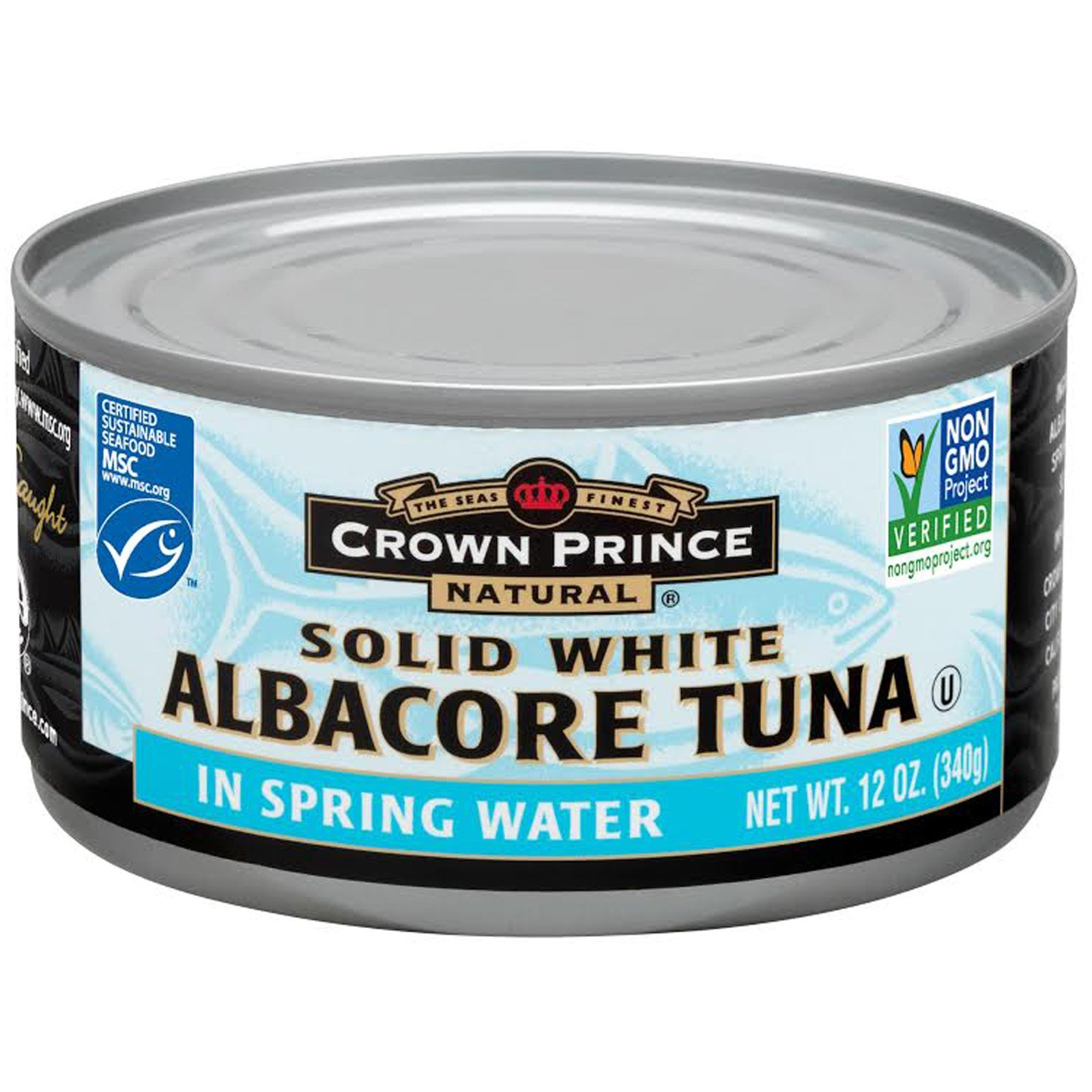 Crown Prince Natural, Solid White Albacore Tuna, In Spring Water, 12 oz (340 g) - 2PC