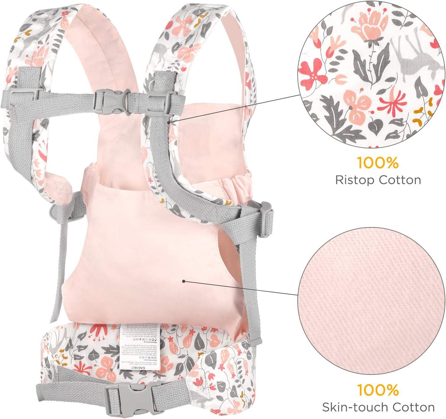 GAGAKU Baby Doll Carrier Portadores de Animales de Peluche Delante y detr/ás para ni/ñas Rosa