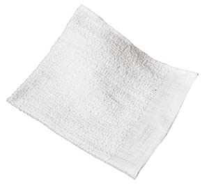 RITZ Food Service CLBMR-1 Professional Highly Absorbent Terry Bar Mop Cleaning Towels, 12-Pack, White