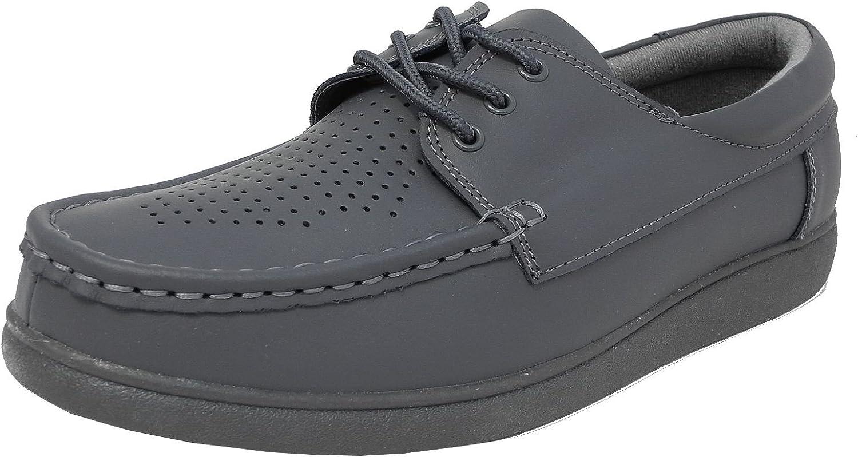 suela plana Zapatos de bolos para hombre y mujer ligeros blanco talla 5-12 color gris marr/ón con cordones