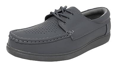 9aa4de4536 Mens Womens Flat Sole Lightweight Lace Up Bowls Shoes Bowling Grey ...