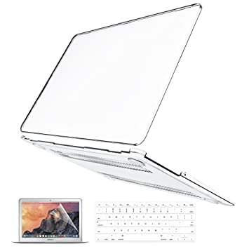 B BELK MacBook Air 13 Inch Case, 3 in 1 Ultra Slim Crystal Clear Plastic Hard Shell Cover Case with Keyboard Cover & Screen Protector for Mac Air 13.3 ...