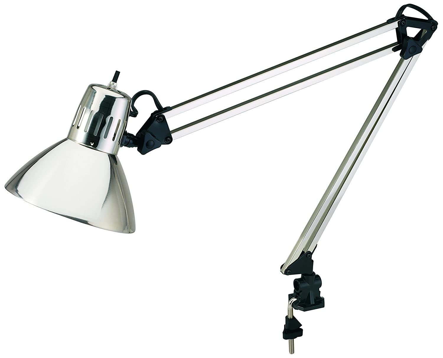 v light architect style cfl swing arm task lamp with non skid table desk clamp ebay. Black Bedroom Furniture Sets. Home Design Ideas