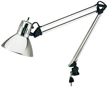 Elegant V LIGHT Architect Style CFL Swing Arm Task Lamp With Non Skid