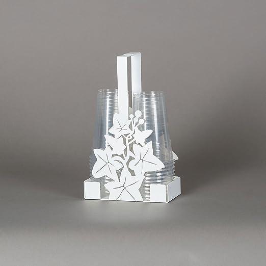 Arti e Mestieri - Portavasos de plástico de metal de hiedra blanca ...