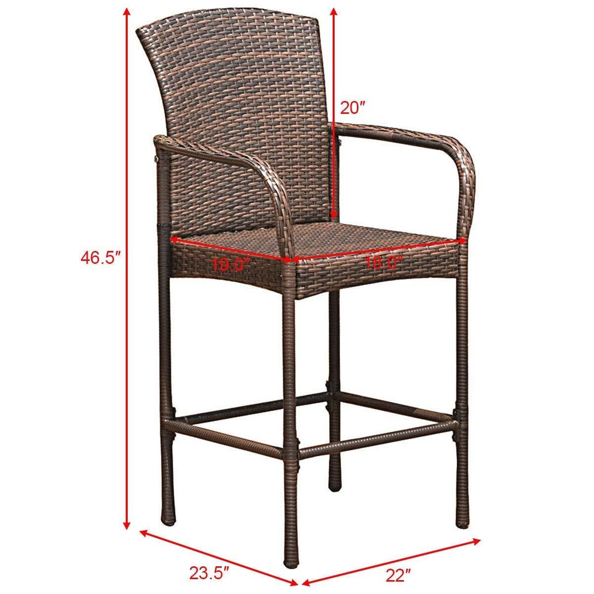 Amazon.com: NanaPluz - 2 sillas de mimbre de mimbre clásicas ...
