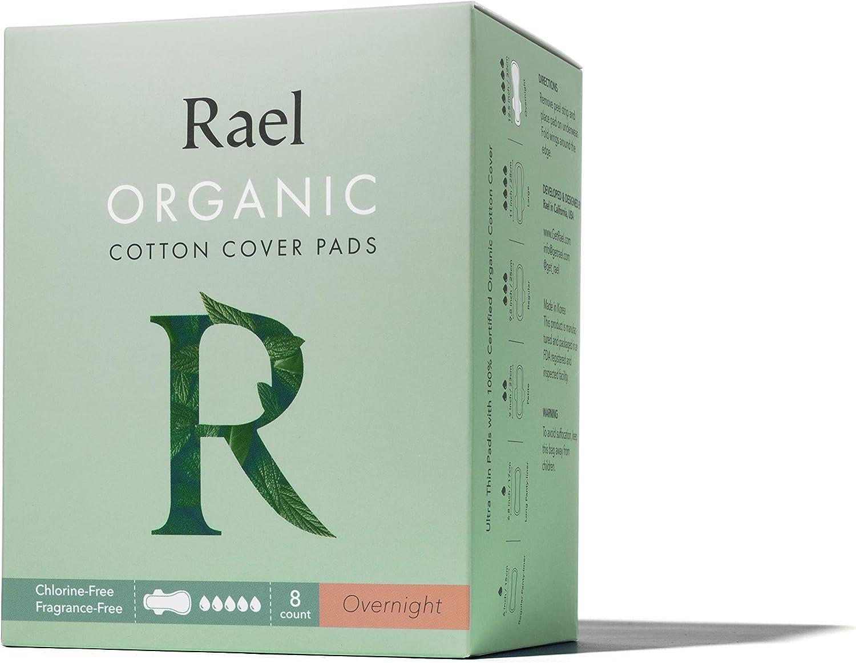 Rael - Almohadillas menstruales de algodón orgánico - Servilletas ...