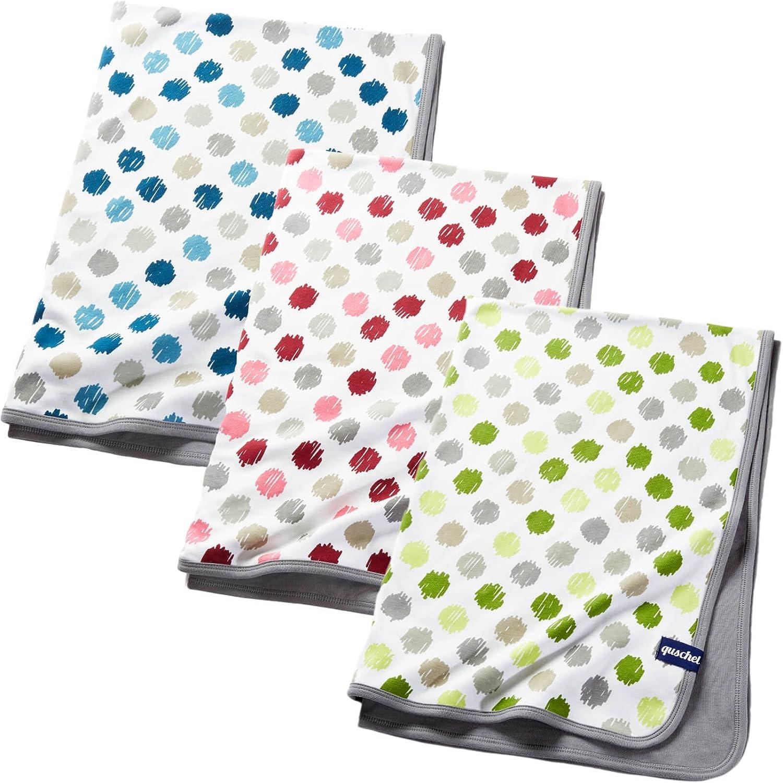 inkl Geschenkschachtel quschel® Babydecke aus 100/% Bio-Baumwolle 75x100cm