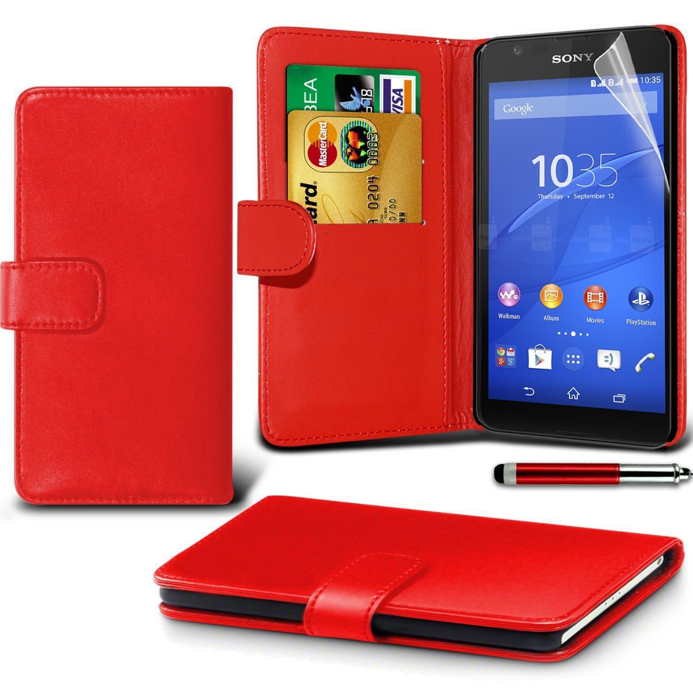 low priced f04cf 66263 LOLO® Sony Xperia E4g Case Premium Leather Wallet Flip: Amazon.co.uk ...