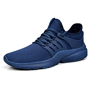 Feetmat Men's Sneakers Running Shoes Lightweight Mesh Breathable Tennnis Workout Gym Shoes Blue 10M ...
