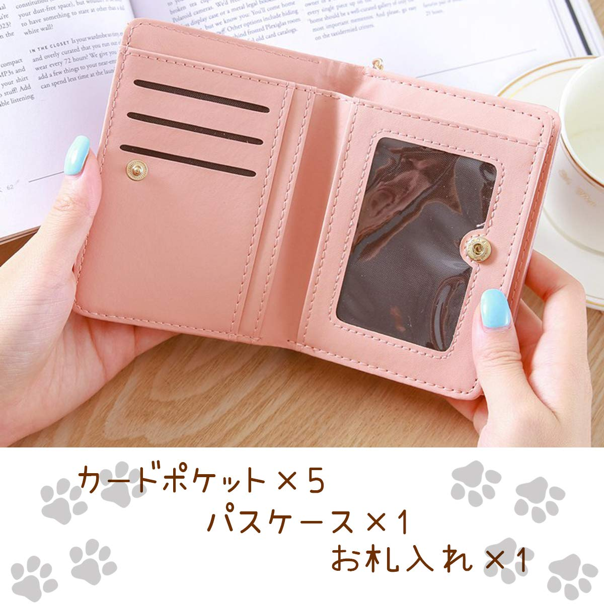 buy popular d4983 3b323 財布 プレゼントBOX入り誕生日 猫 コンパクト 二つ折り ...