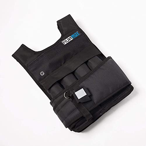 RUNmax Pro Weighted Vest 12lbs 20lbs 40lbs 50lbs 60lbs with Shoulder Pads Option