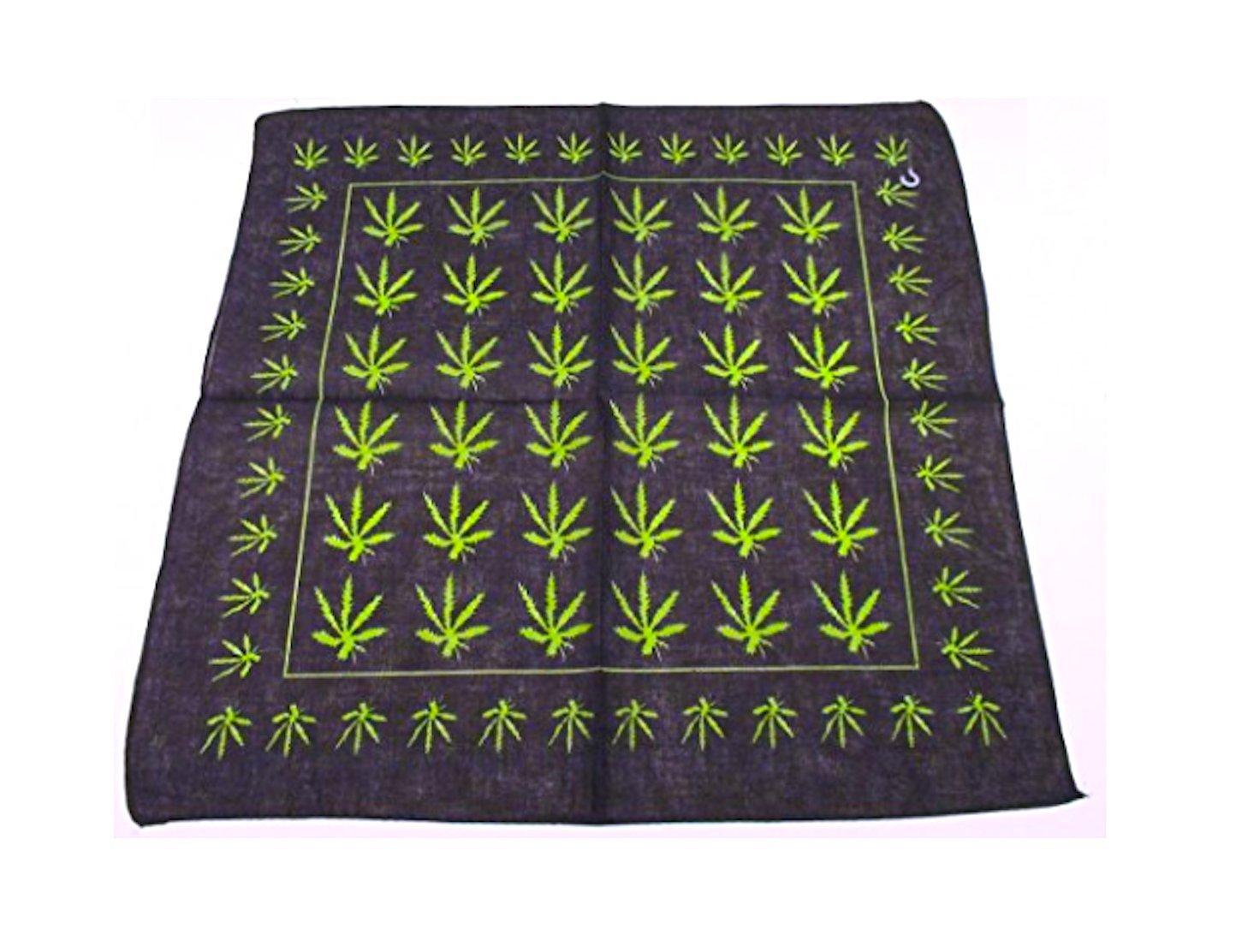 EVERYTHING ELSE Feuille de Chanvre Logo 420/Marijuana Weed Bandana Neuf # 4