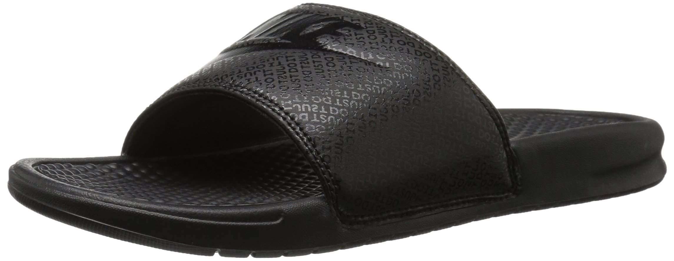 NIKE Men's Benassi Just Do It Slide Sandal, Black, 12 D(M) US