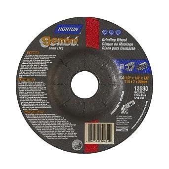 7//8 Arbor Aluminum Oxide Type 27 5 Diameter X 1//4 Thickness Pack of 25 Norton Gemini Fast Cut Depressed Center Abrasive Wheel