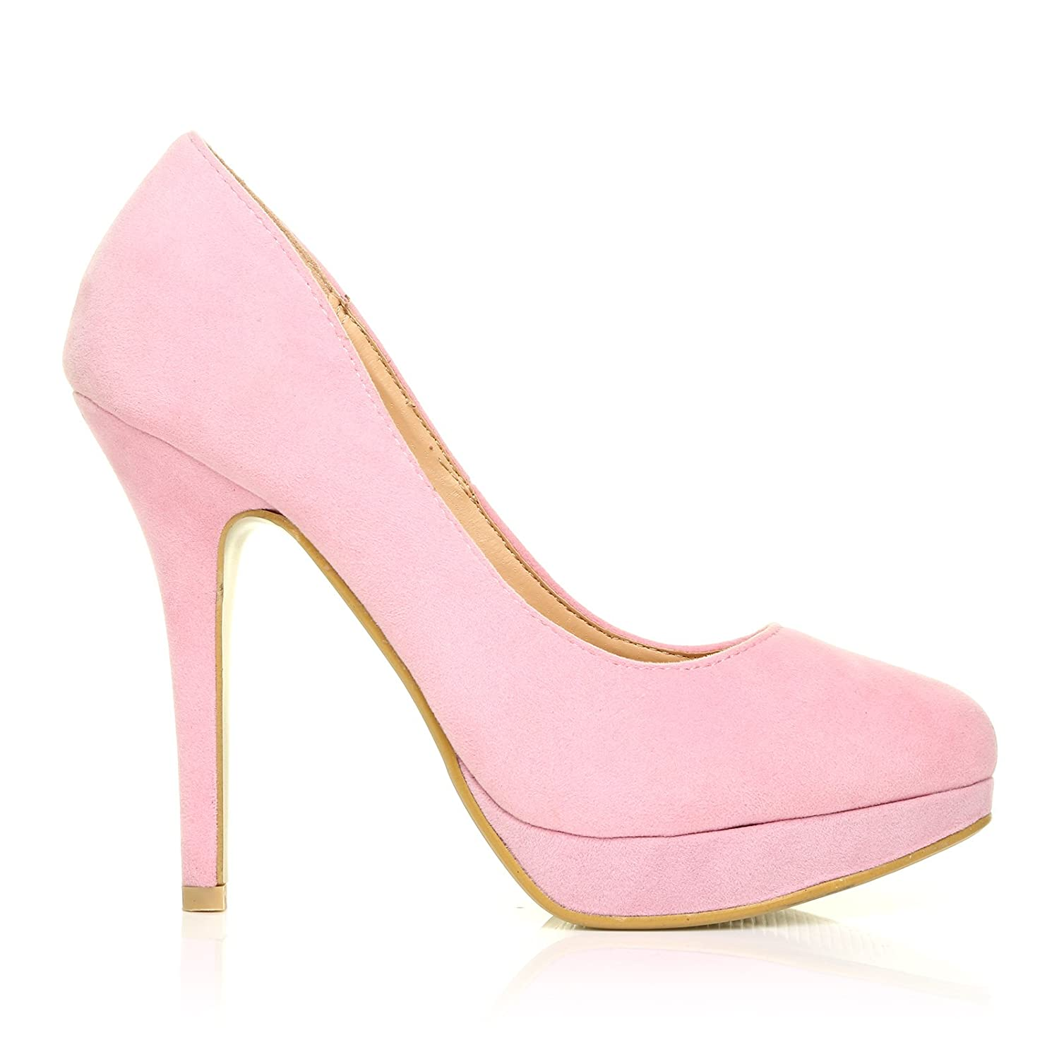 Heel Pink Platform Baby Stiletto High Court Eve Shoes Faux Suede TwOZXlPkiu