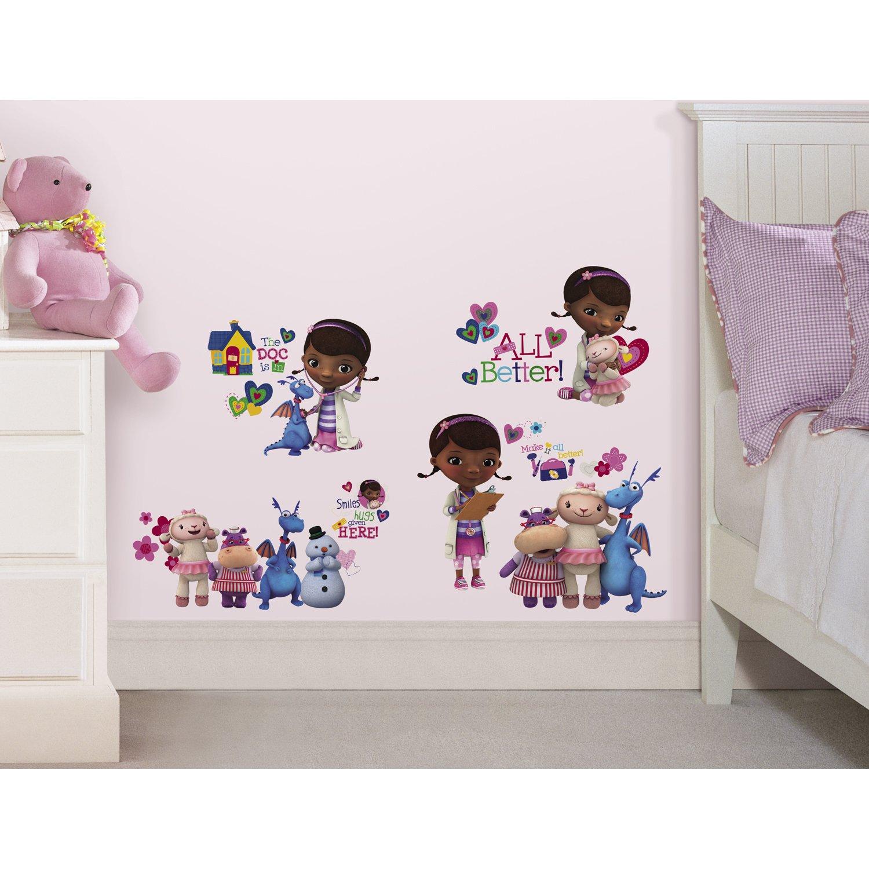 RoomMates RMK2280SCS Doc McStuffins Peel and Stick Wall Decals