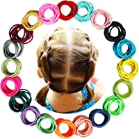 WillingTee 200 Pieces Multicolor Baby Girls Hair Ties No Crease Hair Bands Ponytail Holder Hair Accessories for Baby…