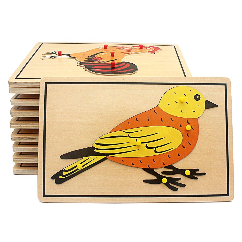 激安商品 Baby B07DH6F72F Toy Kids Baby Montessori鳥パズル動物の子供木製の幼児教育Preschoolトレーニング学習 Kids B07DH6F72F, バランタイン:19546237 --- a0267596.xsph.ru