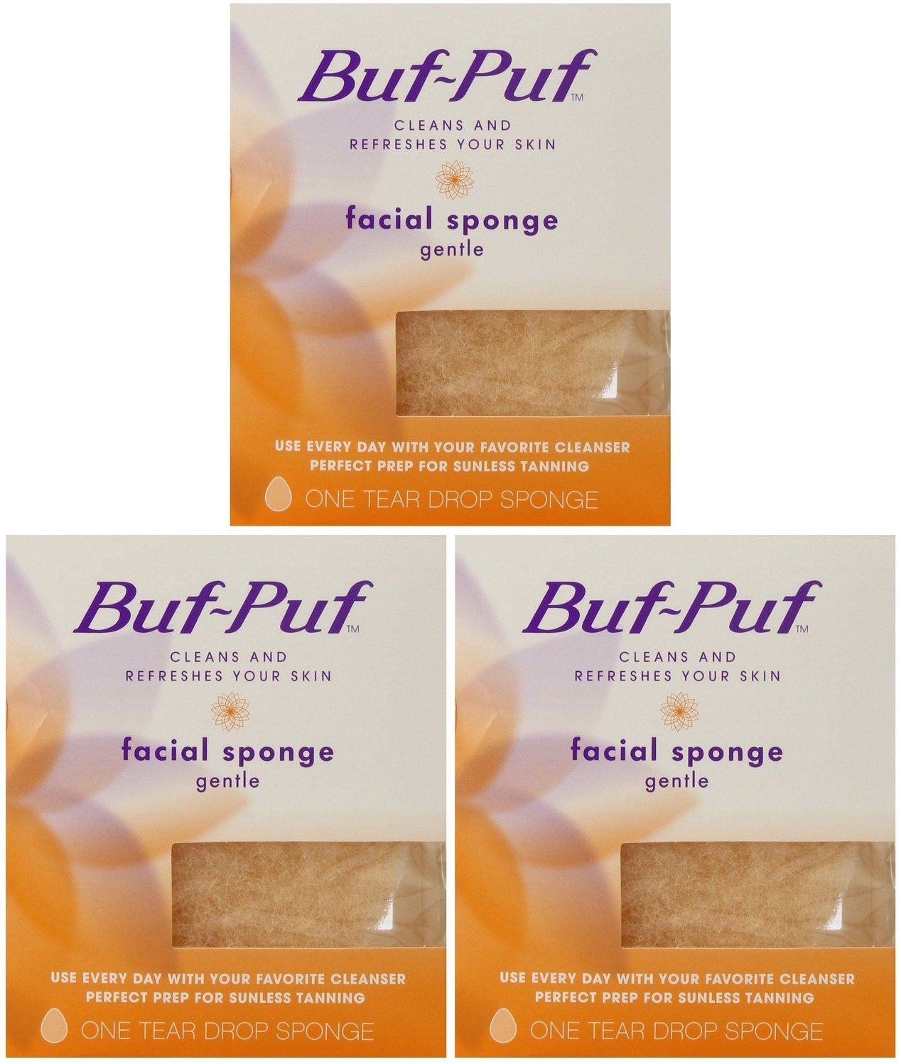 Buf-Puf Reusable Gentle Facial Sponge (Pack of 3)