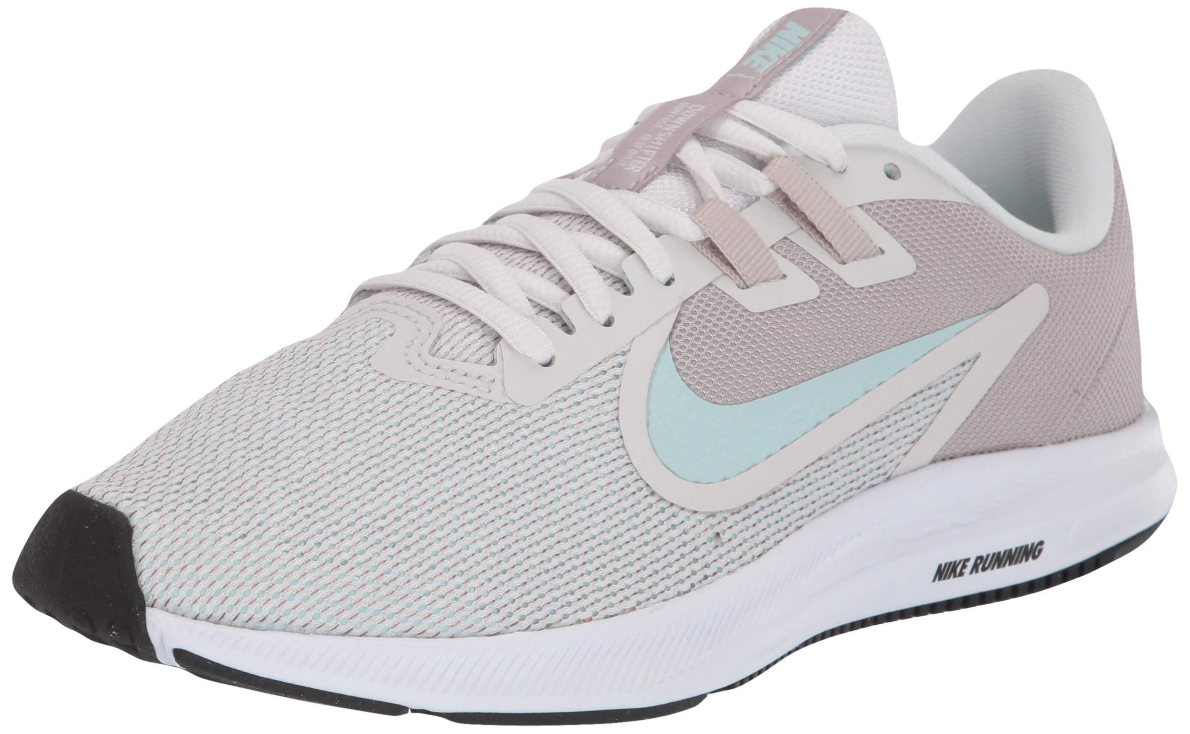 a46b989e0295c Nike Women's Downshifter 9 Sneaker, Platinum Teal Tint-Moon Particle, 8  Regular US