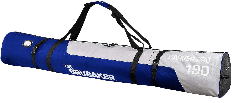 190cm Skisack CarverPRO BRUBAKER Skitasche Skibag OVP Blau/Silber