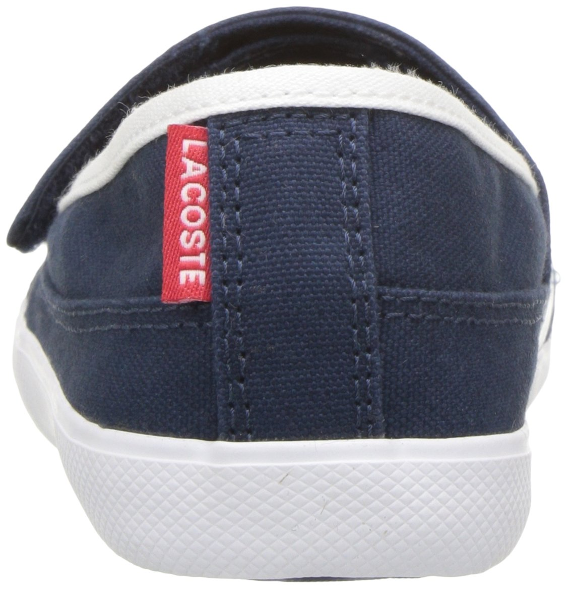 Lacoste Kids' Marice Slip-ONS,Navy/White Cotton Canvas,13. M US Little Kid by Lacoste (Image #2)