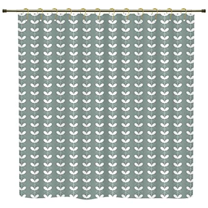 IPrint Shower CurtainNatureRetro Textured French Late Baroque Style Tulip Branches Botany Inspired