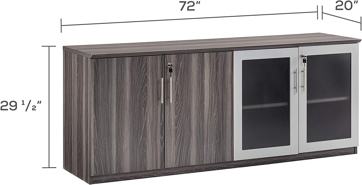 63 Gray Steel Safco Products MNH63LGS Medina Hutch Cabinet
