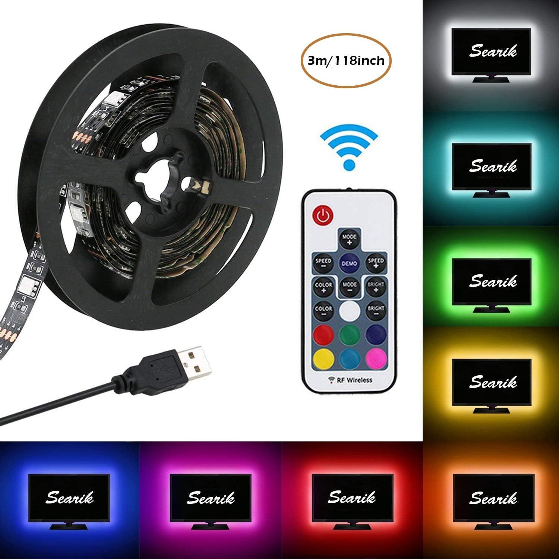 Bias Lighting, searik RGB Kit de tira de luces LED TV ...