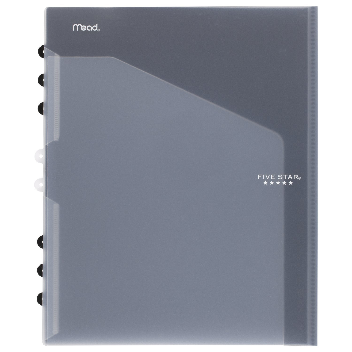 Five Star 2-Pocket Folder, Add-A-Folder, Fits Notebooks and 3 Ring Binder, Customizable, Color Will Vary (81216)