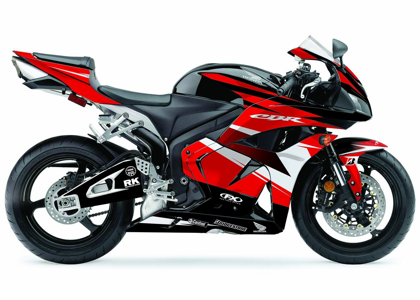 Factory Effex 17-15314-R EV-R Series Red Complete Street Bike Graphic Kit