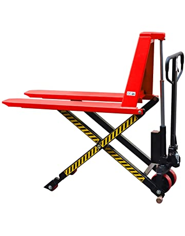 Giant Move MD-H15L Steel Manual High Lift Scissor Truck, 3300 lbs Capacity,