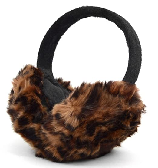 663ab8674a Unisex Faux Fur Ear Warmers Earmuffs for Winter Over-the-head Ear Band (