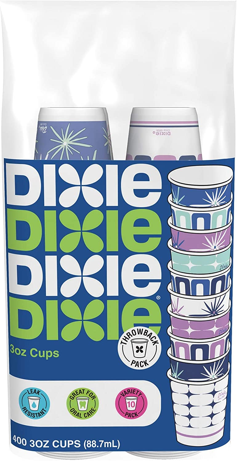 Dixie Paper Bath Cups, 3oz Cups, Pack of 400 Cups, Colors/Styles Vary: Health & Personal Care