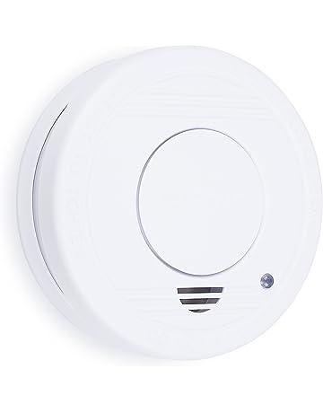 Smartwares 10.044.62 RM250-Detector de Humo, batería incluida, botón de Prueba