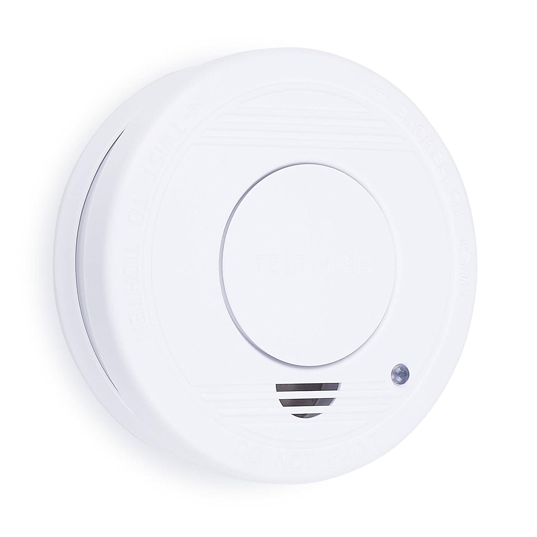 Detector de Humo, batería incluida, botón de Prueba, Smartwares 10.044.62 RM250