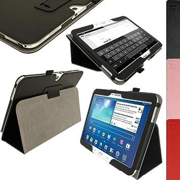 """b0f2fbf30db igadgitz U2563 - Funda de cuero para Samsung Galaxy Tab 3 10.1"""", con  Auto"""