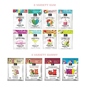 Amazon Project 7 Assorted Gourmet Gum Build A Flavor Birthday Cake Gummy Set 12 Packs By 309 Beauty