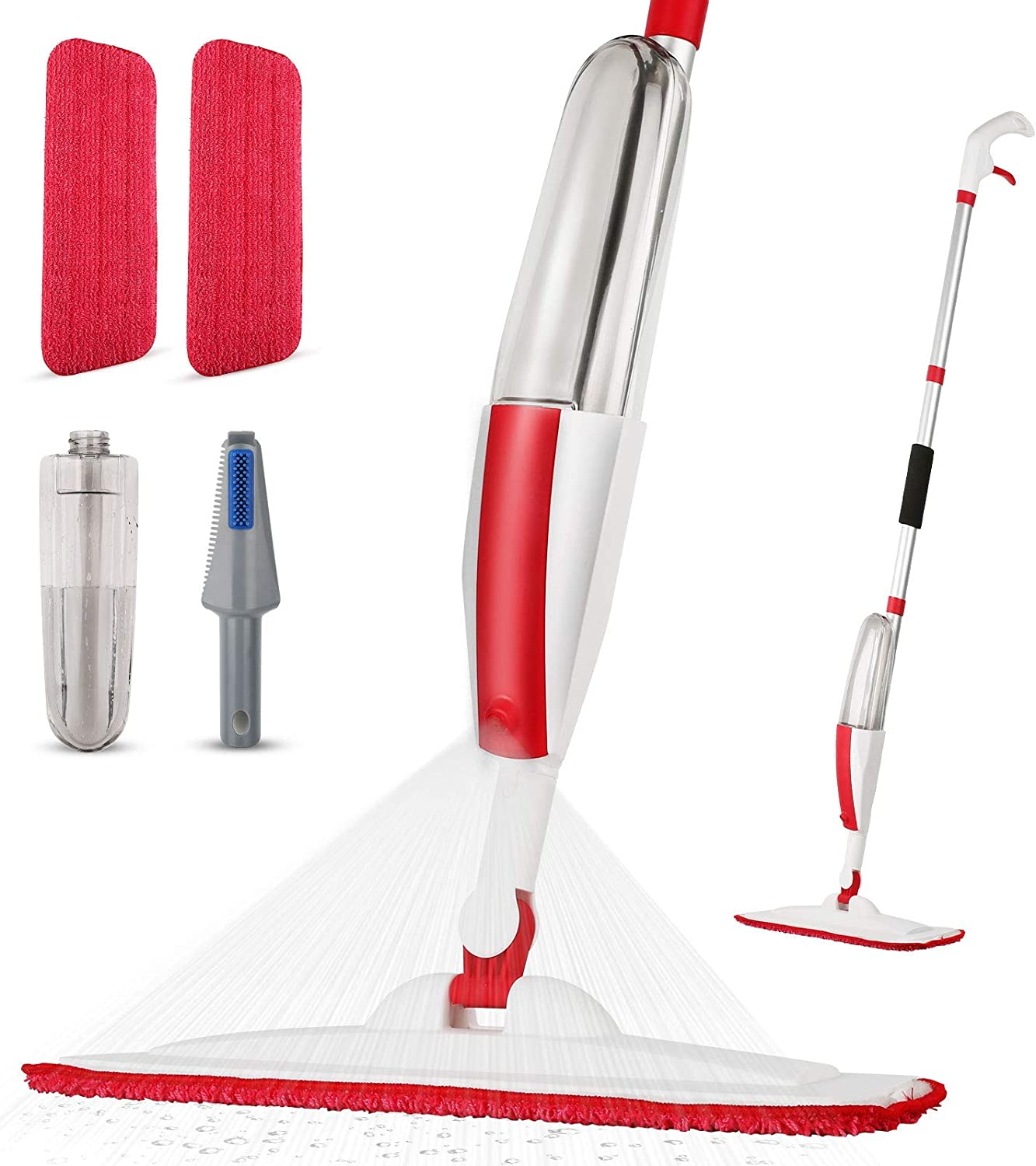 Spray Mop for Floor Cleaning Floor Mop with a Refillable Spray Bottle and 2 Washable Microfiber Pads Home or Commercial Use Dry Wet Flat Mop for Hardwood Laminate Wood Ceramic Tiles Floor