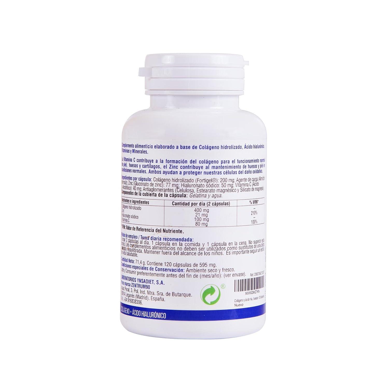 Colágeno y ácido hialurónico para ayudar a la salud de piel y articulaciones – Colágeno hidrolizado con vitamina C y zinc para mejorar tus defensas y ...