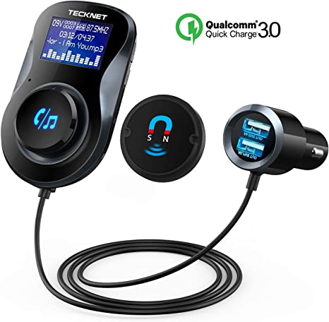 New Car Bluetooth FM Transmitter Wireless Radio Adapter Charger With MP3 Player