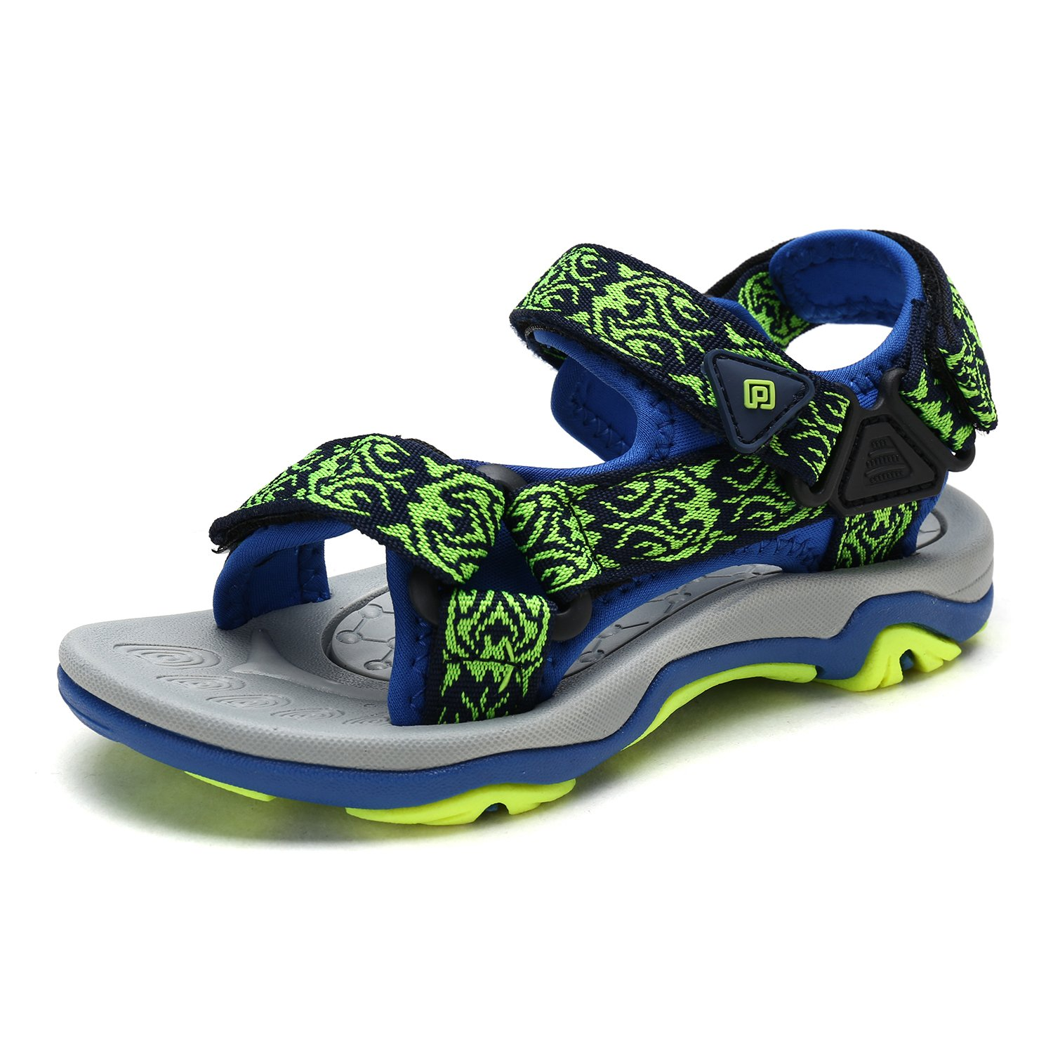 DREAM PAIRS Little Kid 170892-K Royal NEON Green Outdoor Summer Sandals Size 3 M US Little Kid