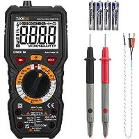 Tacklife DM01M Multimetro Digitale Avanzato TRMS 6000 Conti Senza Contatto di Tensione, Rileva Amp Ohm Volt e Temperature, Filo Vivo, Test di Continuità con Display Retroilluminato