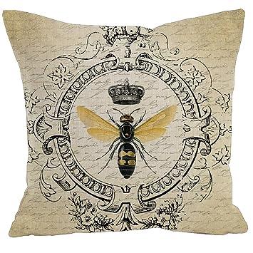 Amazon.com: toplano Retro Vintage abeja reina corona de lino ...