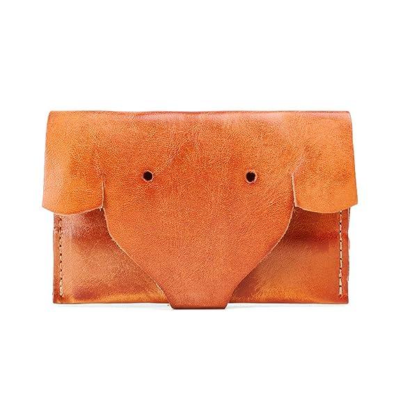 Epinki Genuino Piel Monedero para Mujer Billetera Elefante ...