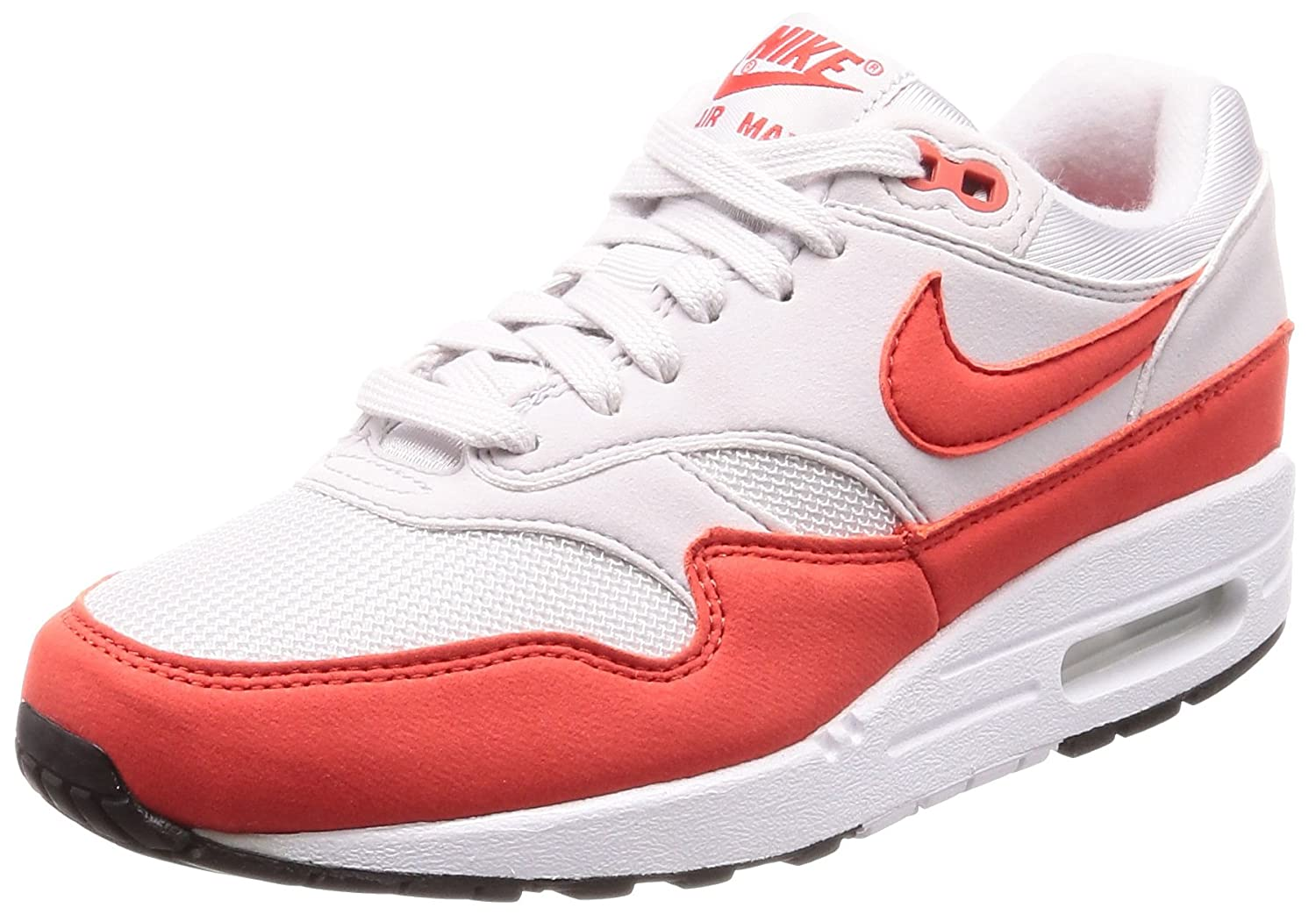 Nike Wmns Air Max 1 Vast Grey Habanero Red 37.5 EU|Rojos