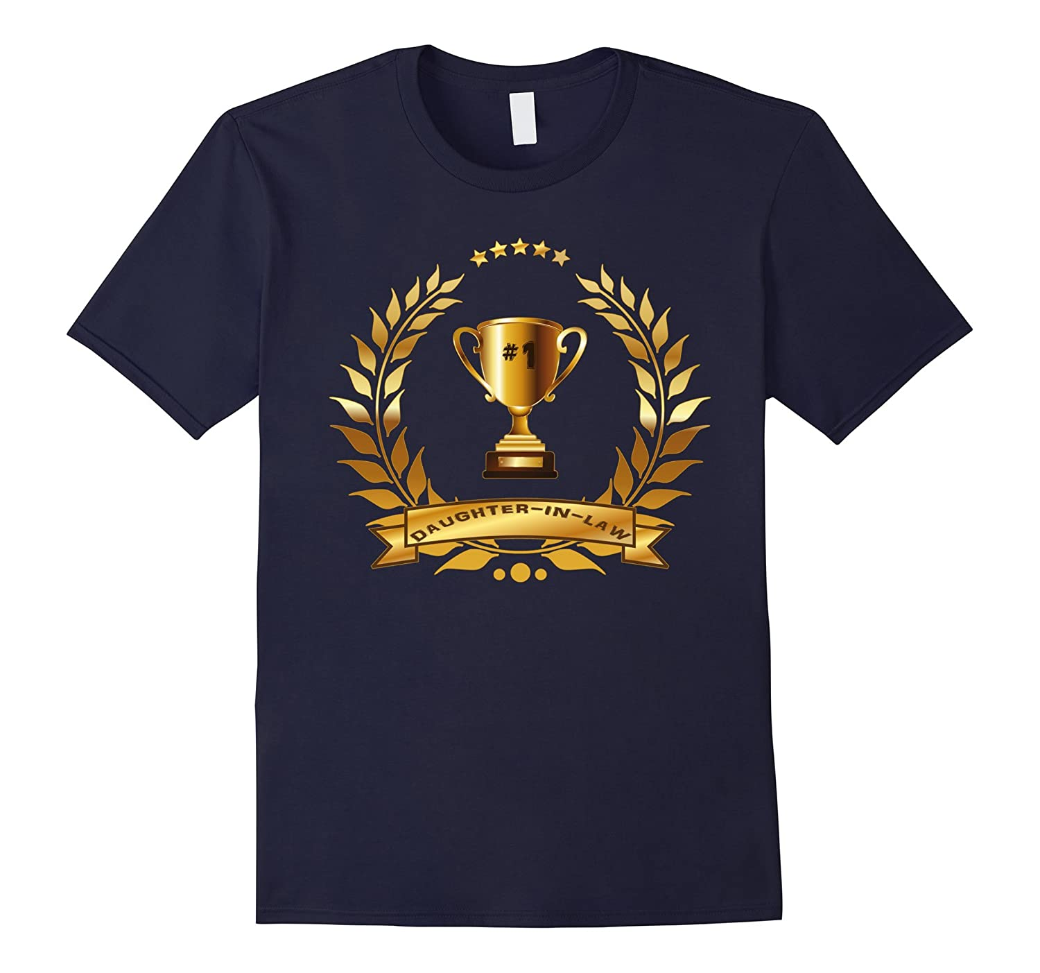 #1 Daughter-In-Law TShirt With Trophy-Gift For Women, Girls