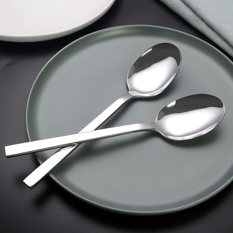 Nesmilers 12 Pieces Dinner Spoons Set Stainless Steel Table Spoon