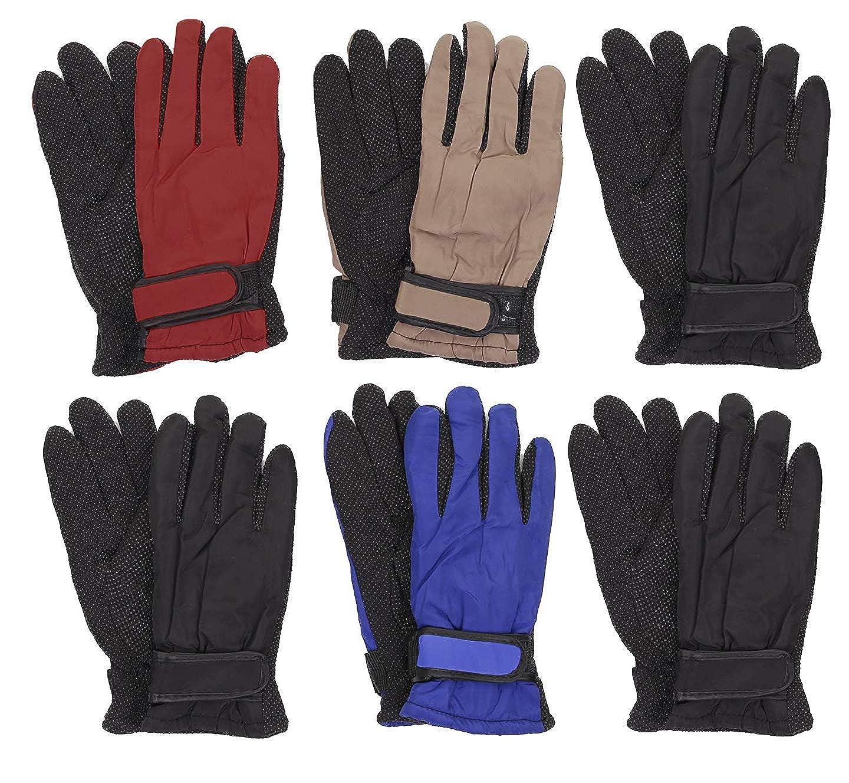 Gilbin Kids Thinsulate and Waterproof Outdoors Ski Winter Gloves Anti-skid design 6 Pack HA-201413
